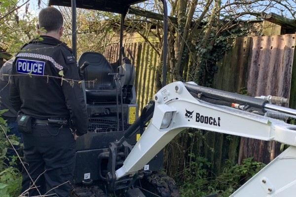 Bobcat Mini Excavator - Stolen / Recovered!